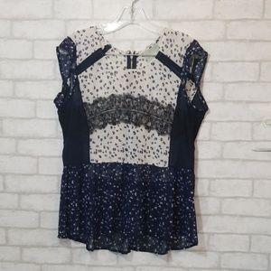 Maeve sheer light weight blouse size amall